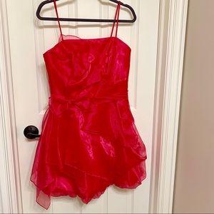 Jessica McClintock hot pink mini tulle dress